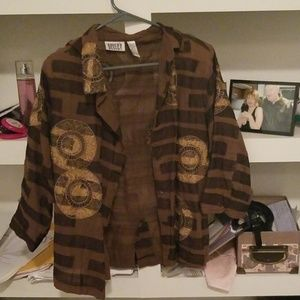 Brown patterned overshirt